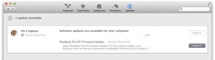 Mac App Store para actualizar el sistema