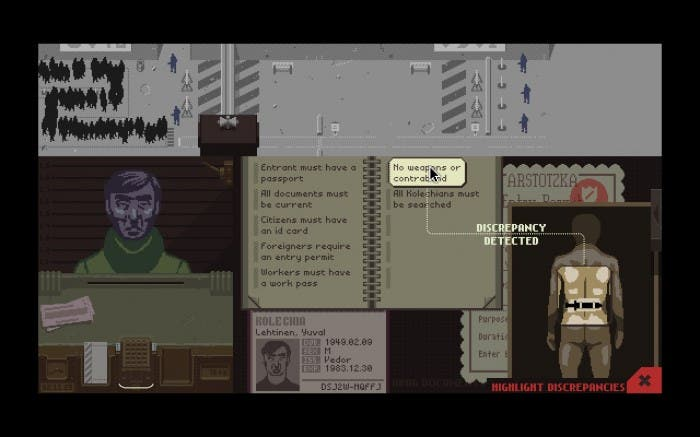 Encontrando discrepancias en documentos en Papers Please