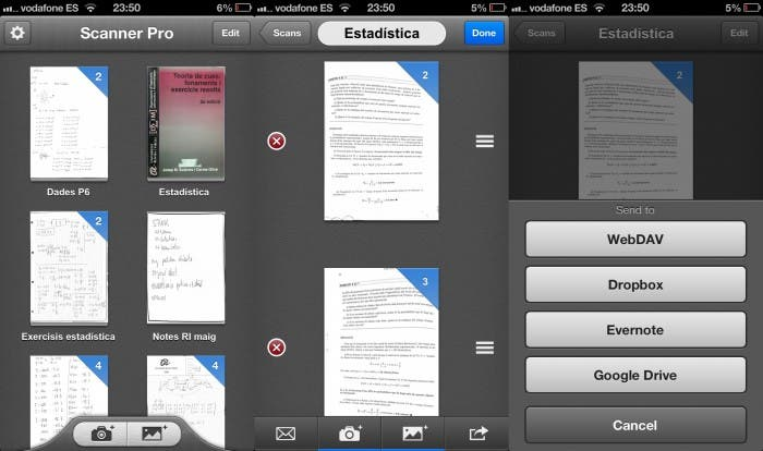 Capturas de pantalla de Scanner Pro