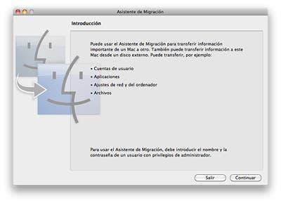 Asistente de migración en OS X