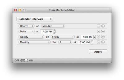Programación de Time Machine Editor