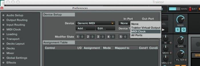 Configuración de dispositivos en Traktor MIDI