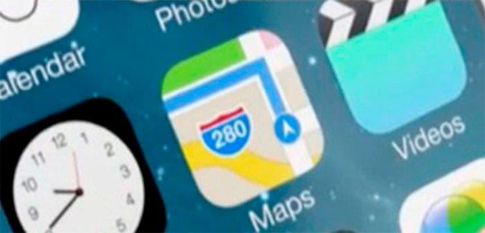 Captura de pantalla Mapas iOS 7