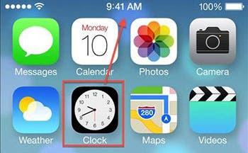 Captura de pantalla del icono de la app Reloj