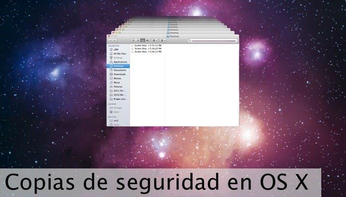 Restaurando copias de seguridad en OS X