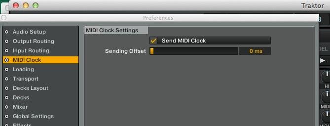 Enviar tempo BPM via MIDI en Trakor