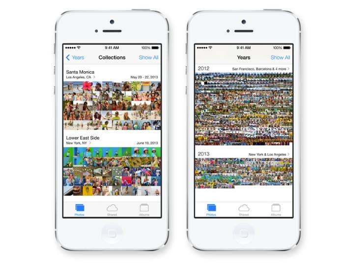 Así se muestra la cámara y las fotos en iOS 7