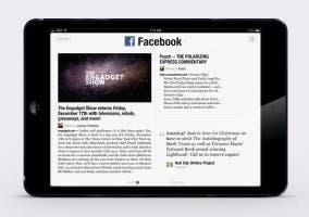 Facebook Reader con forma de Flipboard