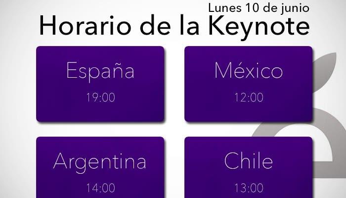horario-keynoteHorario de la Keynote del WWDC 2013