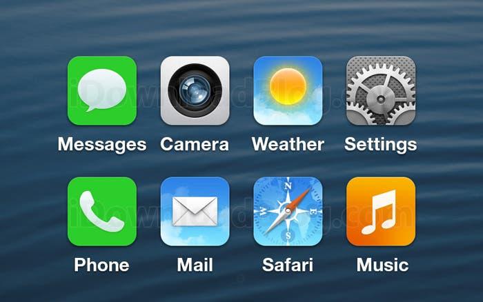 iOS 7 posibles iconos