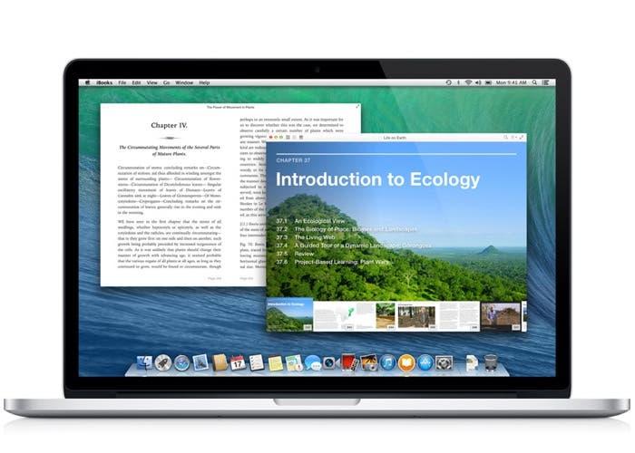 iBooks para OS X en un MacBook