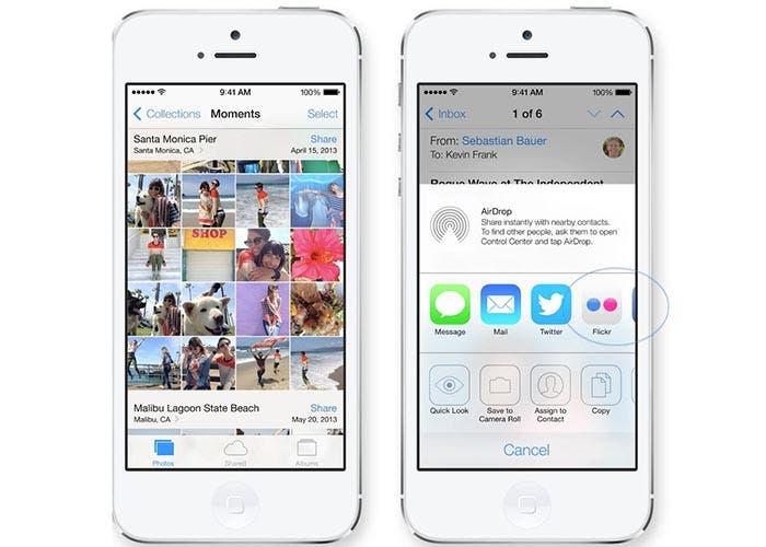 Servicios para compartir en iOS 7