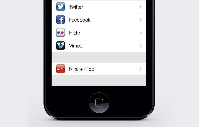 Opciones para compartir en iOS 7