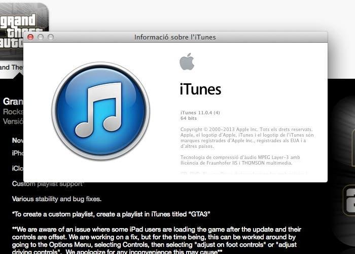Actualización de iTunes