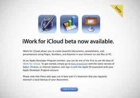 iWork para iCloud beta para empleados