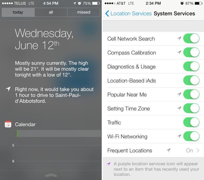 El centro de notificaciones usará información basada en nuestro uso y la localización del iPhone