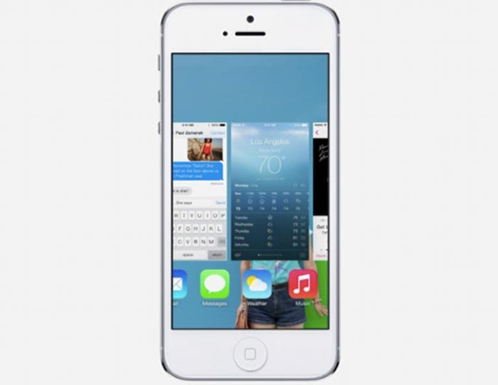 Esta es la multitarea de iOS 7