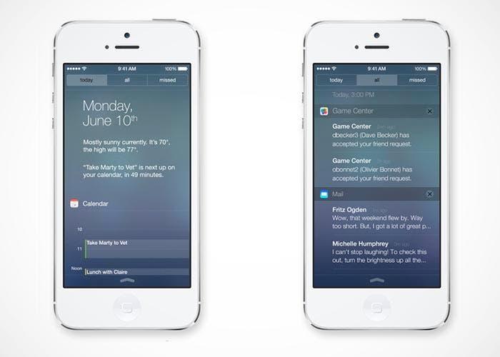 Centro de notificaciones en iOS 7