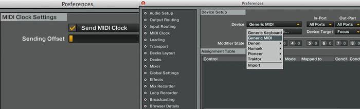 Configuración MIDI