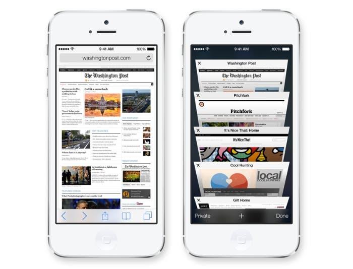 Así se muestra Safari en iOS 7