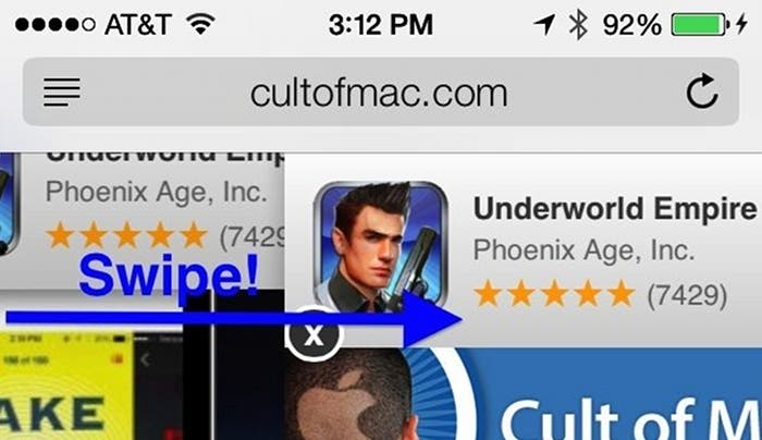 Volver atrás haciendo Swipe en iOS 7