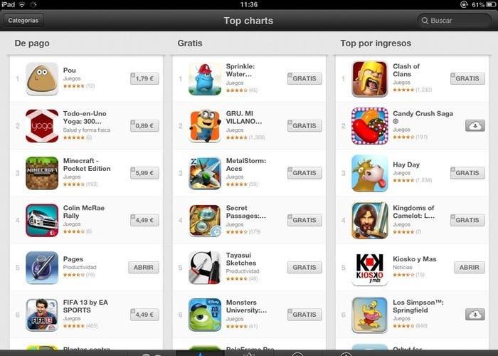 Top de aplicaciones de la App Store