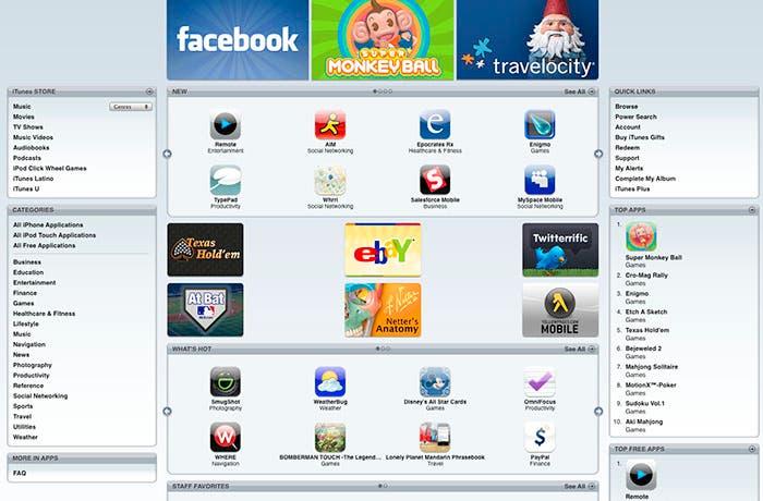 Primeras capturas de pantalla de la App Store