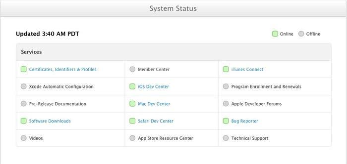 Centro de desarrolladores de Apple ON