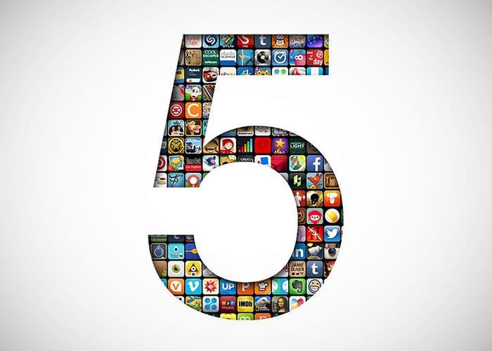 Imagen conmemorativa del quinto aniversario de la App Store