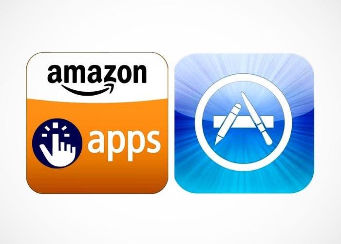 Las tiendas de aplicaciones de Amazon y Apple