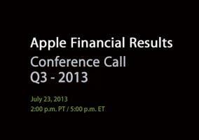 Anuncio de los resultados fiscales de Apple del Q3 2013