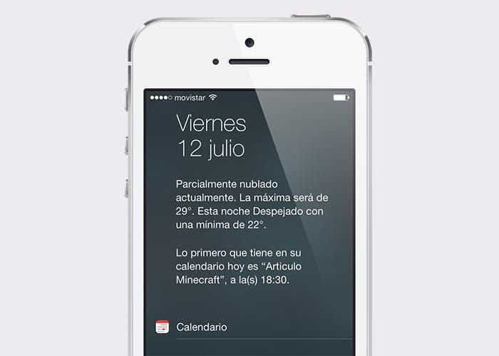 Nueva función Hoy en iOS 7