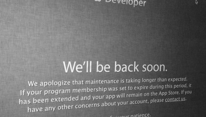Web de Apple para desarrolladores
