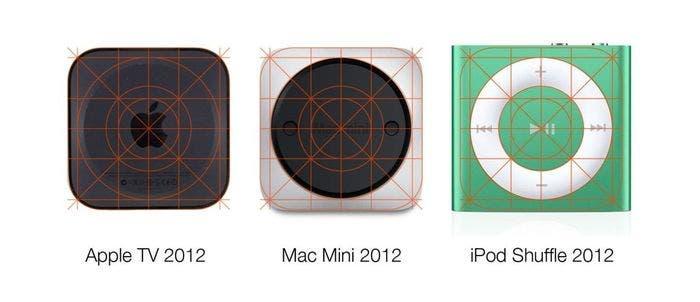 El diseño de rejilla presente en los productos hardware de Apple