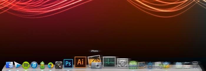 La velocidad de animación del Dock de OS X