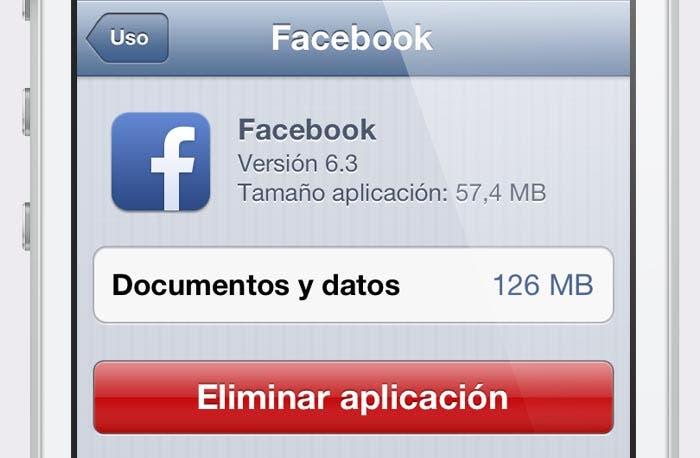 Datos de las aplicaciones de iOS