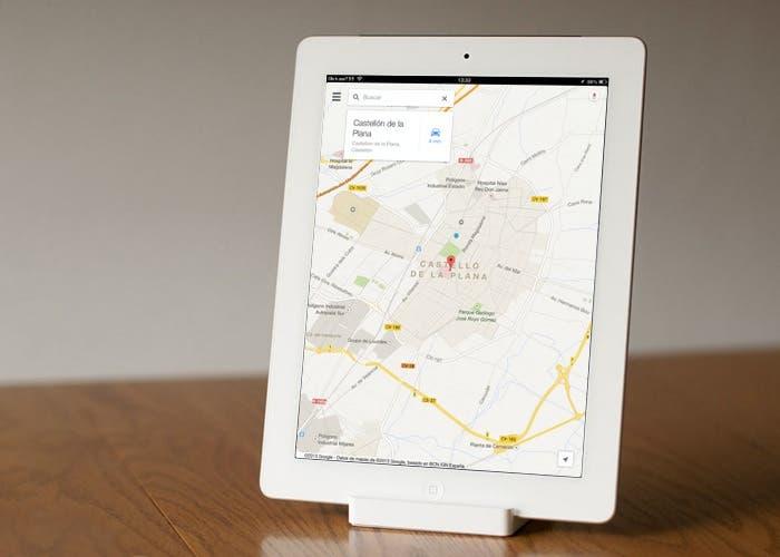 Google Maps en el iPad