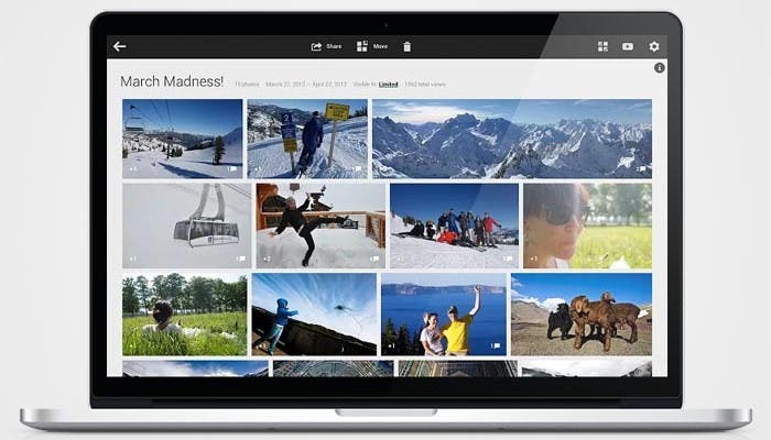 Aplicación de fotografía de Google en OS X