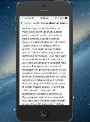 Textos largos se muestran en pantalla completa en iMessage