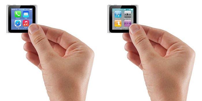 Concepto de iOS 7 en iPod nano