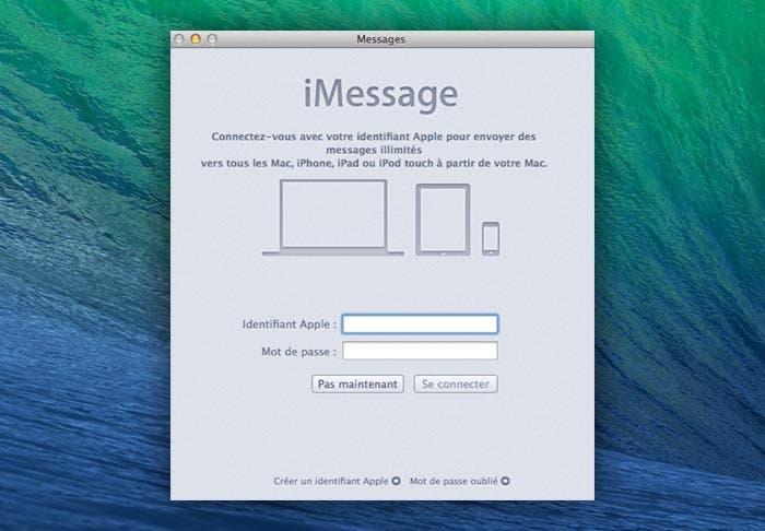 Nueva pantalla de inicio de sesión en iMessage