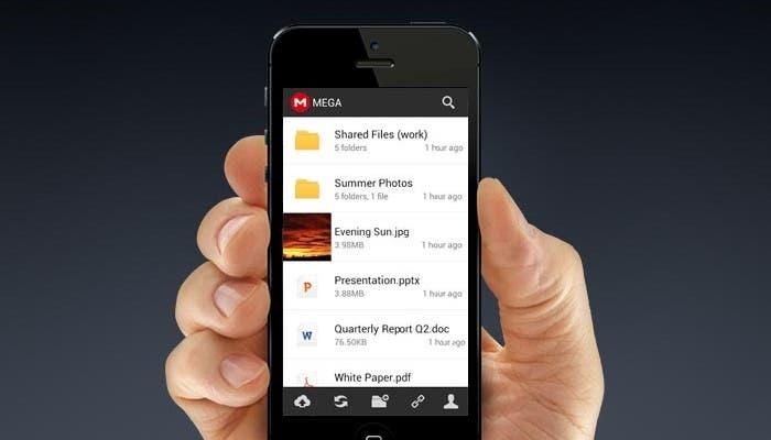 Aplicación de Mega para iPhone