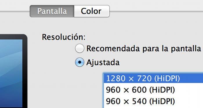 Simula tener una pantalla Retina en tu Mac