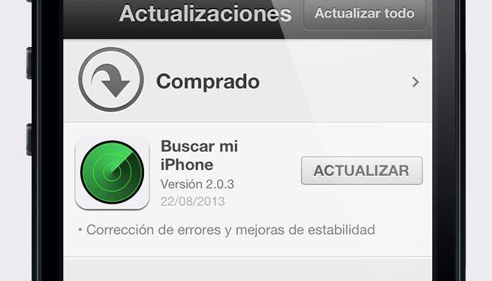 Actualización de Find my iPhone