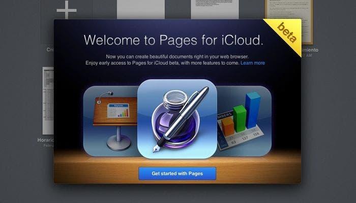 Bienvenida a Pages en iWork para iCloud beta