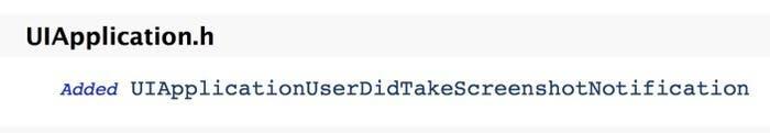 API que detecta las capturas de pantalla en el nuevo iOS 7
