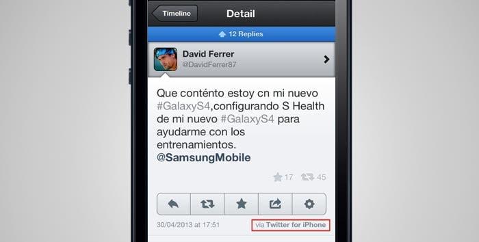 Tweet de David Ferrer