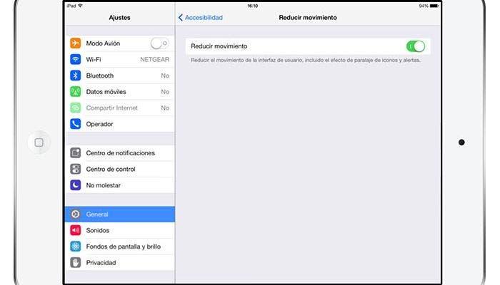 Desactivar efecto paralaje en iOS 7