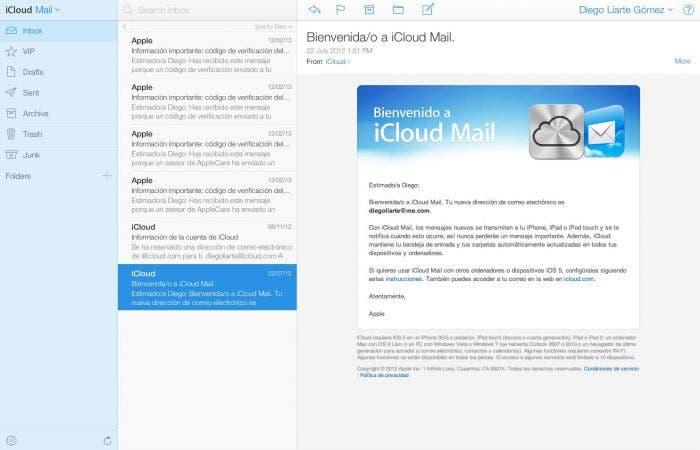 Mail en iCloud.com beta