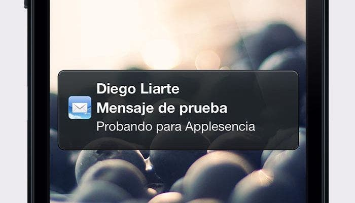 Previsualización de un mensaje en iOS
